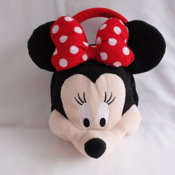 bcc894c46f7 Disney Other - Disney Minnie Mouse Plush Head Small Purse Handbag